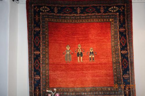 Unik Bibibaf,Persisk,Underbara färger 100% växtfärgade lammull.