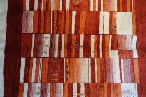 Persisk Amaleh Ghashgainästan fyrkantig 195x199Mycket ovanligt mönster