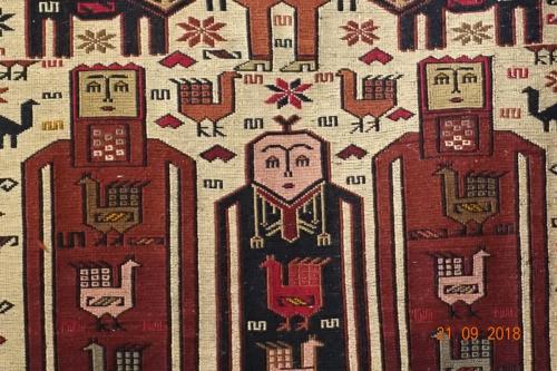 Vacker Persisk Kelim med växtfärgade garn.