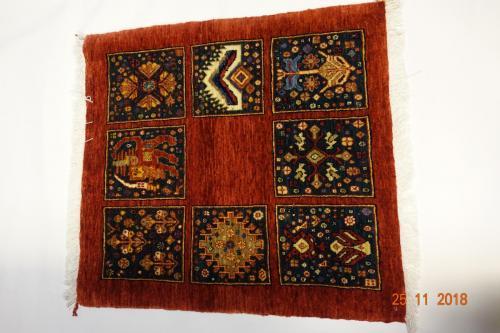 Ghasgai från persienMycket ovanlig matta76x70 cm