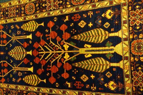 Finns bara en ! Unikt mönster ,Lammull  144x81 cm