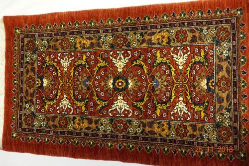 Bidjar 127x74Lammull,växtfärg Ovanligt  vackert .mönster